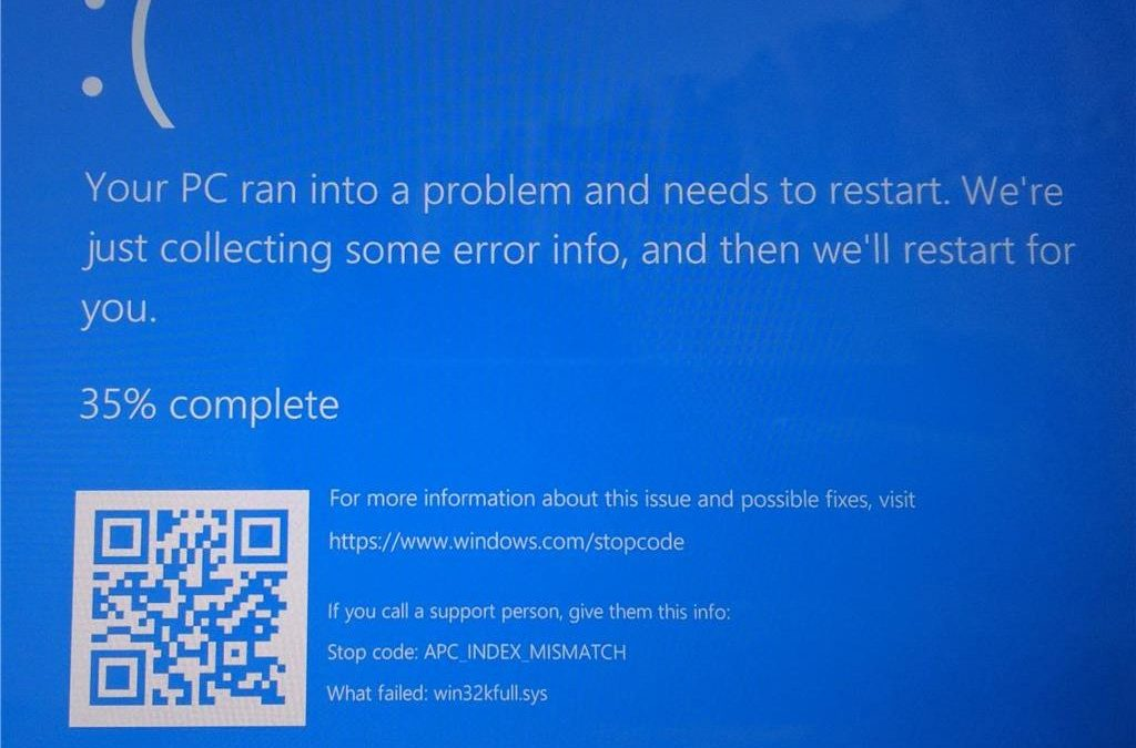 APC_INDEX_MISMATCH causes Blue Screen mayhem